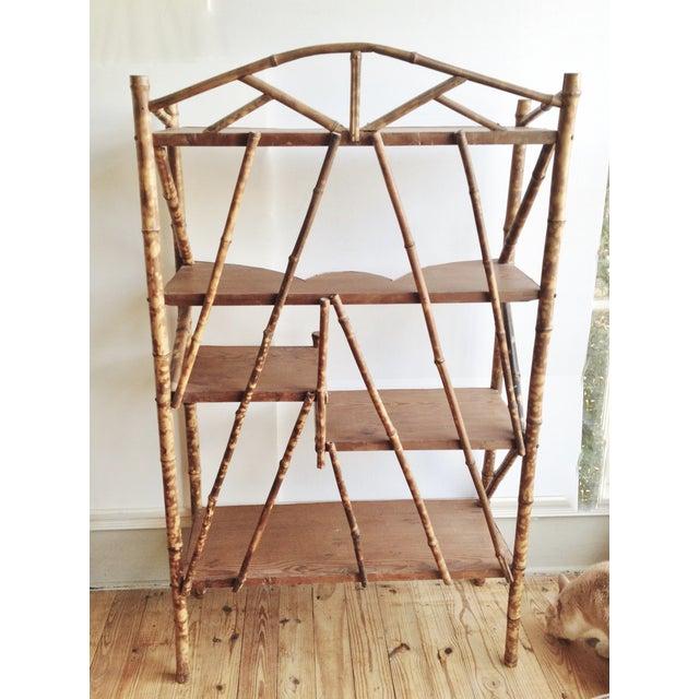 AntiqueTortoise Bamboo Display Shelf Bookcase - Image 6 of 6