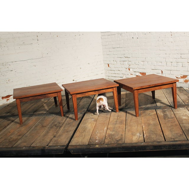 Mid-Century Stackable Rosewood Tables - Set of 3 - Image 8 of 9