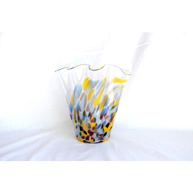 Image of Sculptural Hand-Blown Handkerchief Vase
