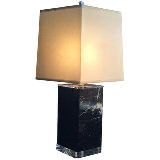 Mid-Century Marble & Lucite Lamp
