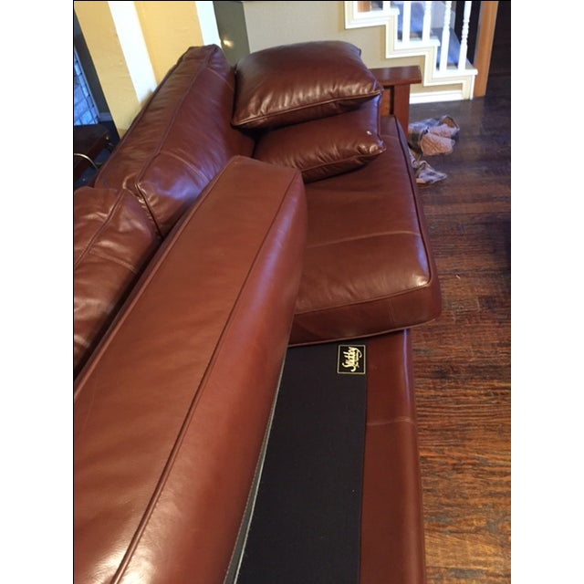 Stickley Leather and Wood Sofa - Image 5 of 7