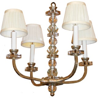 French Vintage Jacques Adnet Chandelier