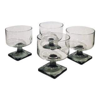 Nordic Midnight Smoke Liquor Cocktail Glass - Set of 4