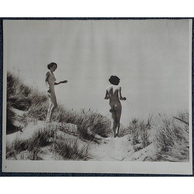 1935 Vintage Art Deco Nude Photogravure - Image 2 of 3