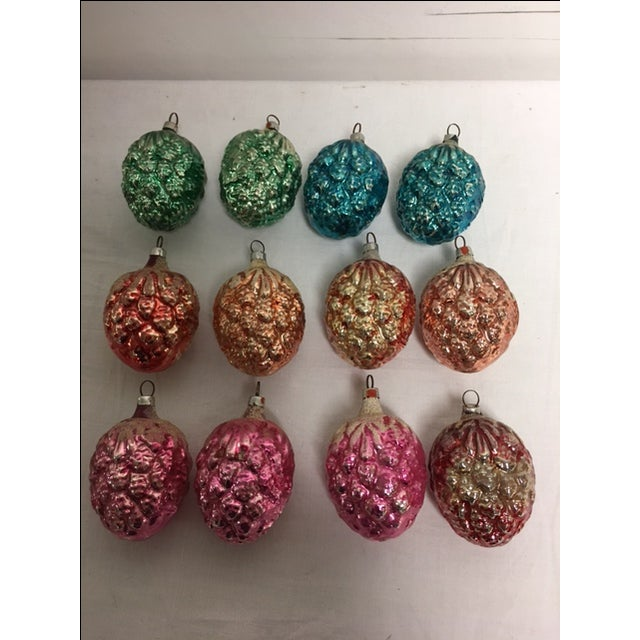 Vintage Christmas Pine Cone Ornaments - Set of 12 - Image 2 of 7