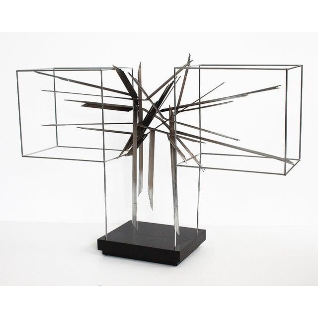 Curtis C Jere Chrome Burst Brutalist Sculpture - Image 3 of 10