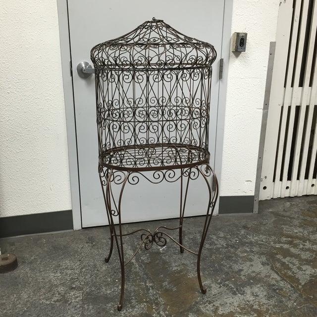 Decorative Iron Bird Cage - Image 3 of 10