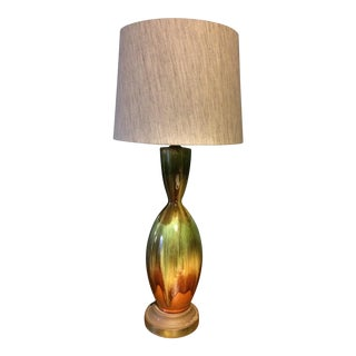 Mid-Century Glazed Table Lamp