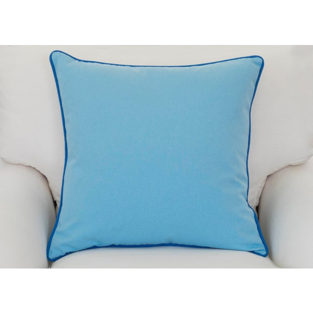 Paradise Collection Cornflower Blue & Ink Blue Welt Down Pillow - Image 2 of 4
