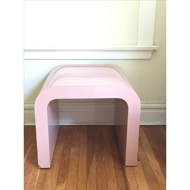 Vintage Pink Waterfall Side Table - Image 2 of 4