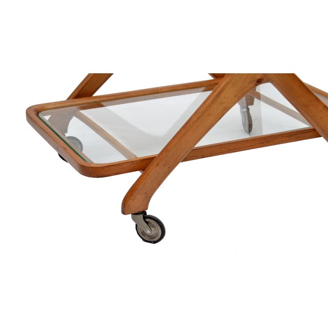 Cesare Lacca Wooden Bar Cart for Cassina, Italy - Image 6 of 8