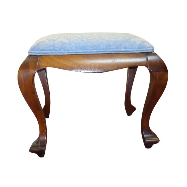 Antique Walnut Foot Stool - Image 1 of 5