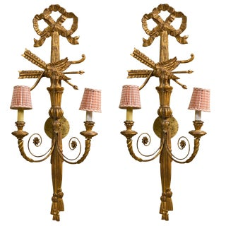 Federal Style Giltwood Wall Sconces - A Pair