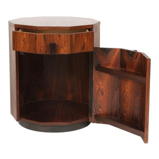 Harvey Probber Rosewood Decagon Dry Bar