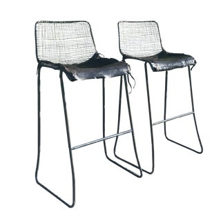 Industrial Inspired Bar Stools - A Pair