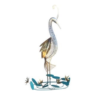 Vintage Curtis Jere Heron Wall Sculpture
