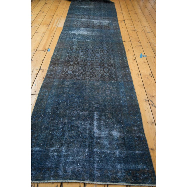Hand-Knotted Overdyed Runner Rug - 3' x 19' - Image 3 of 10