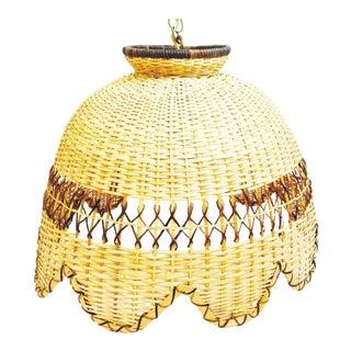 Vintage Rattan Hanging Lamp