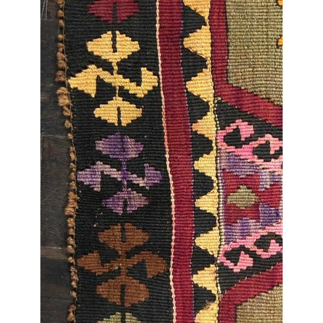 Vintage Turkish Kilim Rug- 5' x 12' - Image 9 of 10