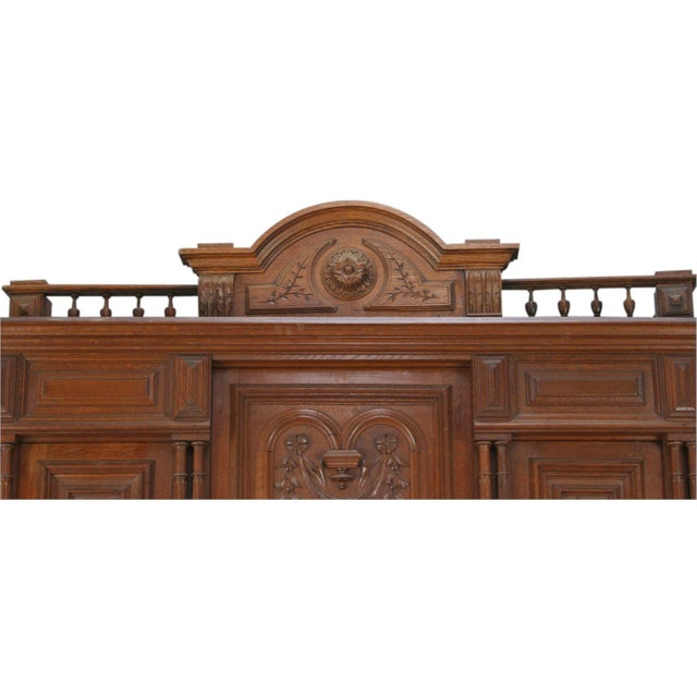 Antique French Renaissance Carved Buffet Server - Image 4 of 8