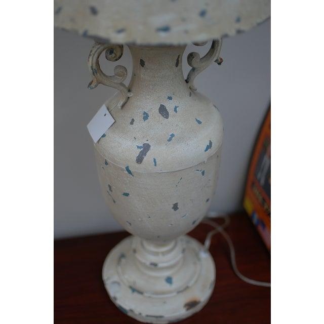 Cream Metal Nostalgia Primitive Table Lamp - Image 4 of 5