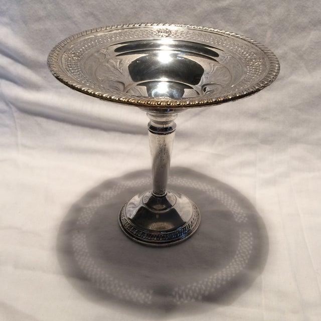 Image of Vintage Sterling Silver Pedestal Dish