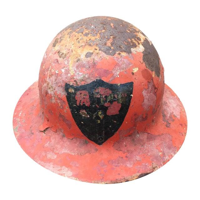 Image of Vintage Metal Fireman's Helmet