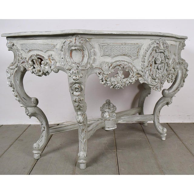 Image of Tradional French Carved Console in Rococo-Style