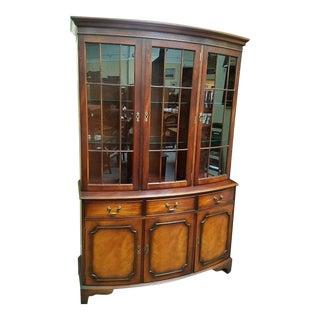 Mid Century Mahogany Display Cabinet