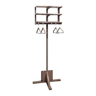 Industrial Metal Coat Rack With Four Hangers