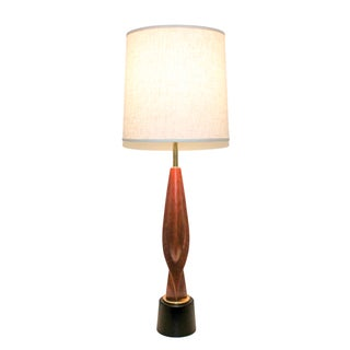 Mid-Century Modern Teak Lamp by Laurel