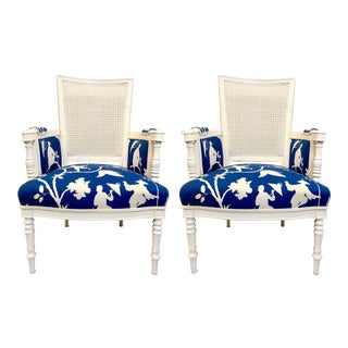 French Style Chairs in Chinoiserie - A Pair