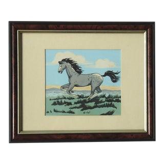Grey Horse Print by Frank Vigil Apache
