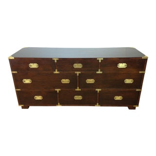 Campaign Style Large Mahogany Chest