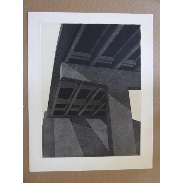 """Original Modern Industrial Graphic Silkscreen, """"Underpass #1"""" - Image 2 of 5"""