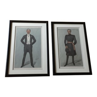 19th Century Distinguished Gentlemen, Vanity Fair Prints - a Pair