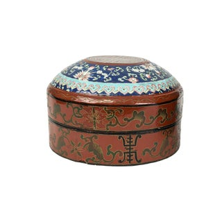 Red And Royal Blue Cloisonne Box