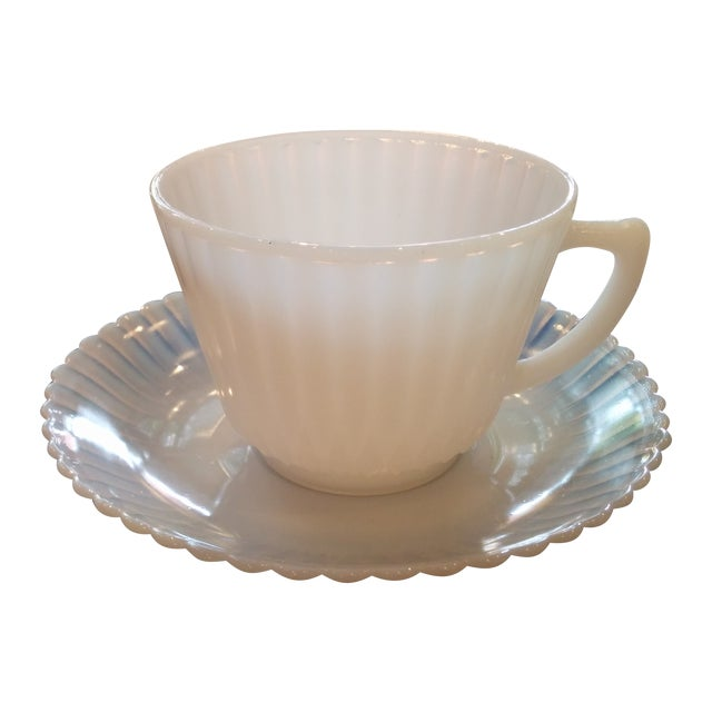 1920s Petalware Teacups and Saucers - Set of 3 - Image 1 of 9