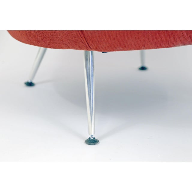 Brazilian Modern Mannes Curved Back Red Club Chair - Image 9 of 11