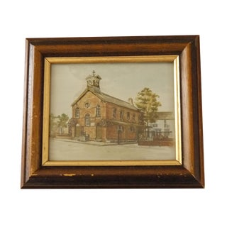 Framed Traditional Schoolhouse Painting