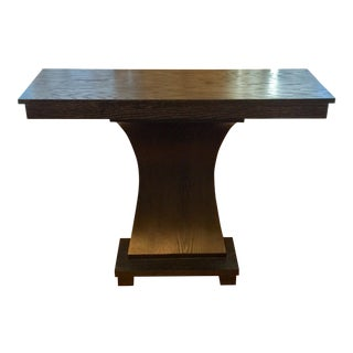 Stained Wood Console
