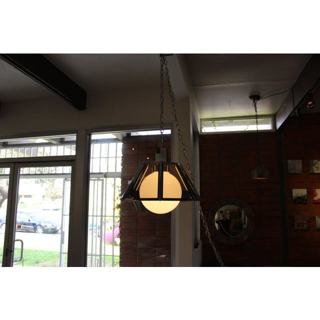 Vintage Fredrick Ramond Chandelier Chrome - Image 6 of 7
