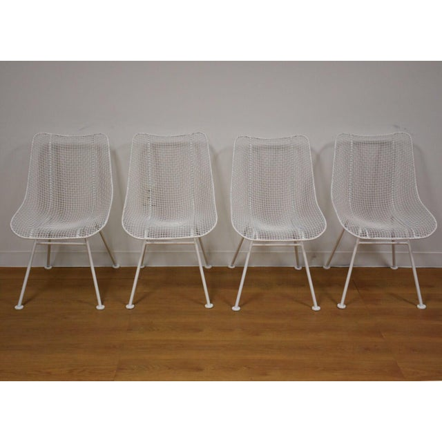 Russell Woodard 'Sculptura' White Patio Dining Chairs- Set of 4 - Image 7 of 7