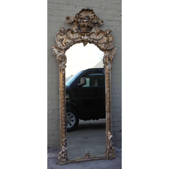 19th C. Italian Gilt Wood Mirror - Image 2 of 5