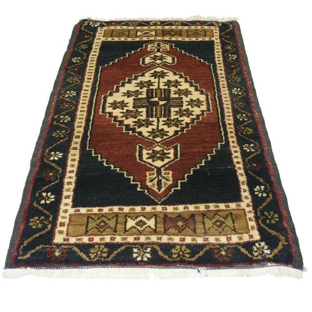 "Image of Vintage Kurdish Carpet - 1'10"" x 3'2"""