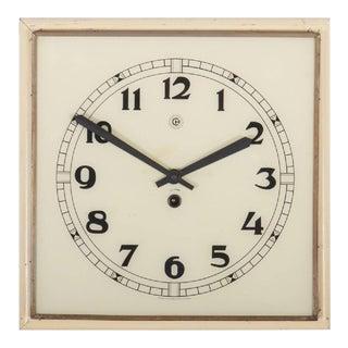 Art Deco Wall Clock, 1936