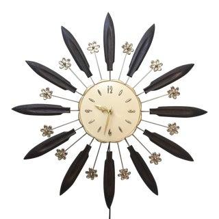 Hollywood Regency Robert Shaw Starburst Wall Clock