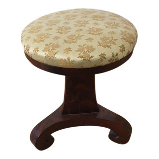 1860's Antique Upholstered Piano Stool