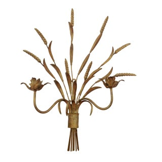 Italian Sheaf of Wheat Candle Sconce