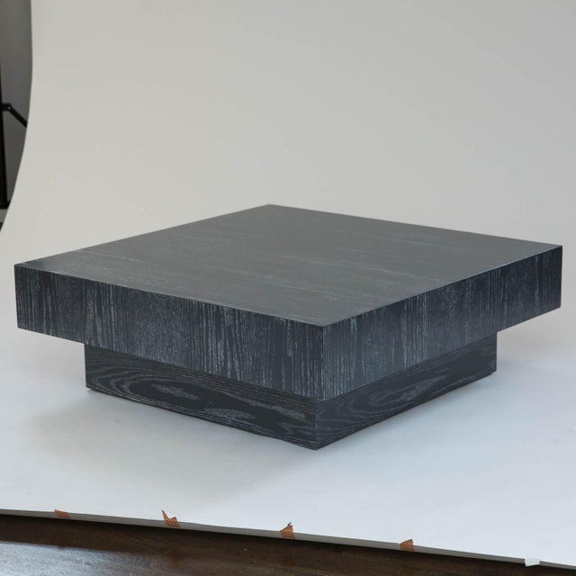 Modern Cerused Square Coffee Table - Image 9 of 9